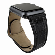 Piel Frama 732 Black Crocodile Leather Strap for Apple Watch (38mm)