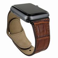 Piel Frama 733 Brown Crocodile Leather Strap for Apple Watch (42mm)