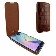 Piel Frama 719 Brown Crocodile iMagnum Leather Case for Samsung Galaxy S6 edge+