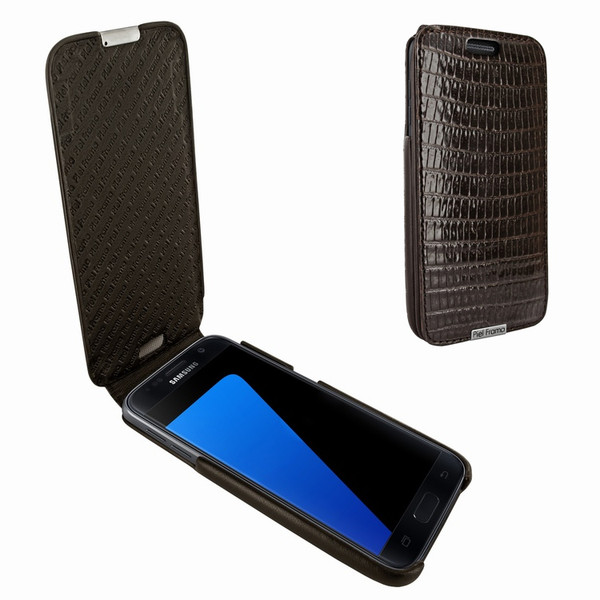 Piel Frama 739 Brown Lizard iMagnum Leather Case for Samsung Galaxy S7