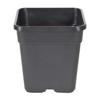 Square Pot - Black - 8 inch