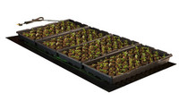Hydrofarm 4 Flat Heat Mat for Plant Propagation and Seed Germination