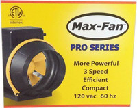 "Max Fan 6"" Pro Series Blower, 3-Speed"