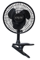 "Active Air Black 6"" Clip On Fan"