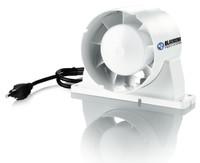 "Blauberg Axial Plastic Fan 4"", 53 CFM"