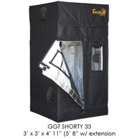"Gorilla Grow Tent 3'x3' SHORTY w/ 9"" Extension Kit"