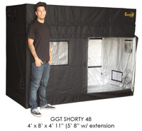 "Gorilla Grow Tent 4'x8' SHORTY w/ 9"" Extension Kit"