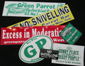 G.P. BUMPER STICKERS