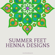 Summer Feet Henna Designs