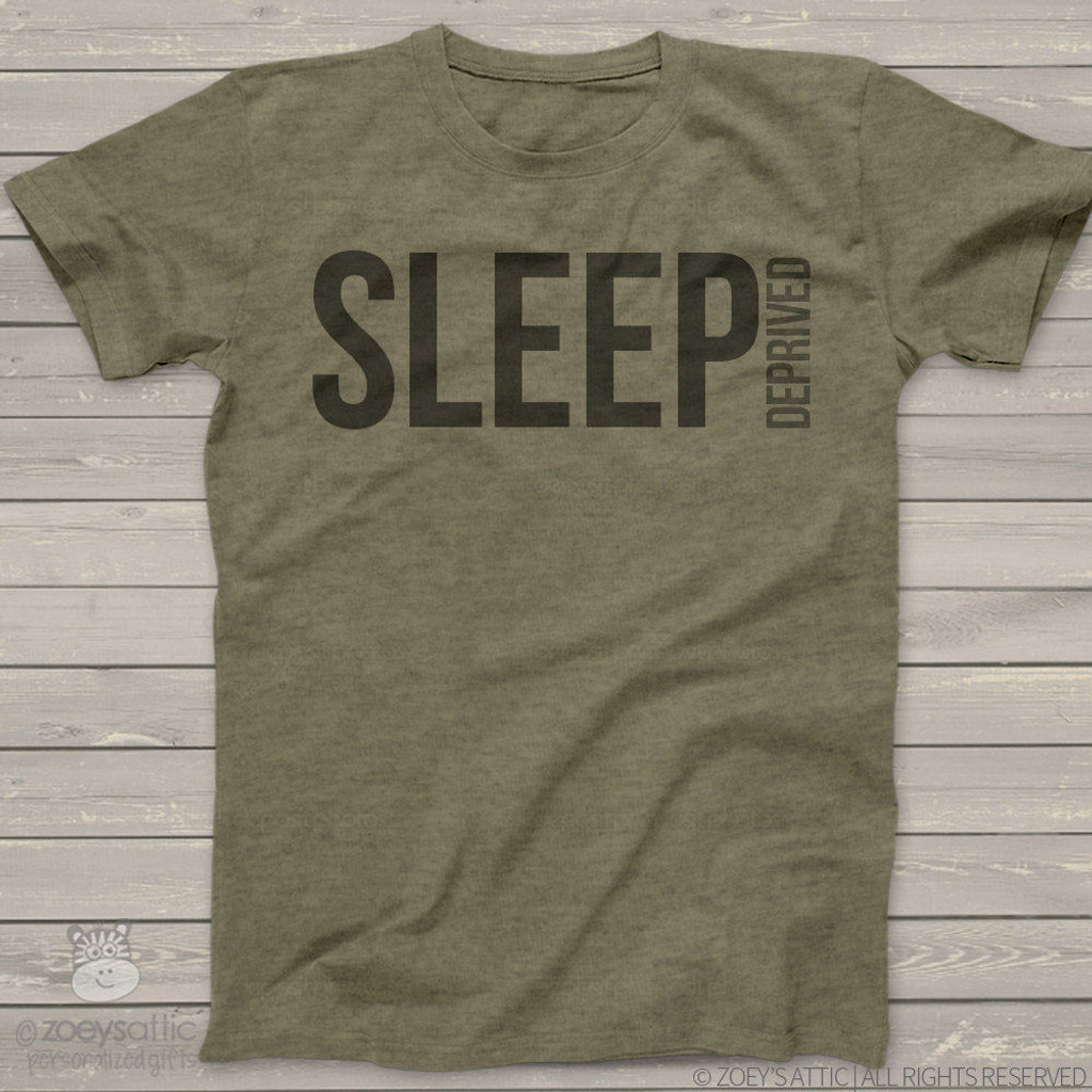 New dad shirt sleep deprived dad custom Tshirt