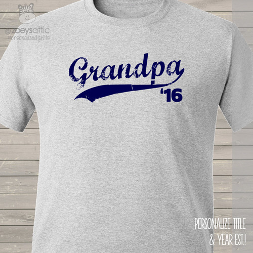 Grandpa shirt swoosh grandpa established any year custom Tshirt