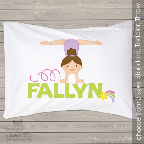 Gymnastics girl personalized pillowcase / pillow
