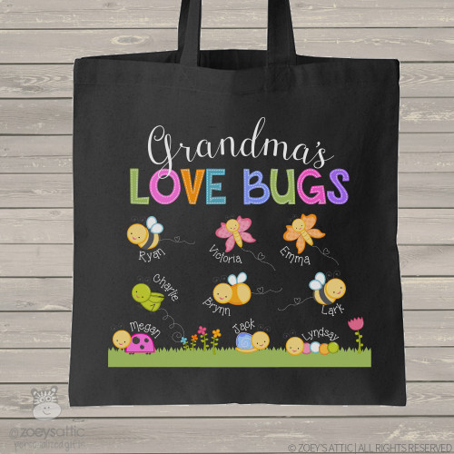Grandma love bugs BLACK bag