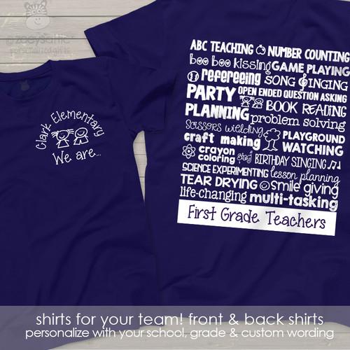 Team teacher superpowers DARK Tshirt