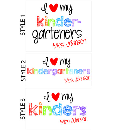 Love my any graders personalized teachers tote bag