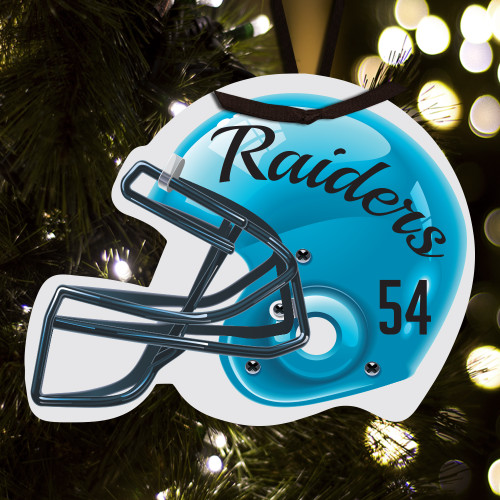 Personalized football helmet ornament