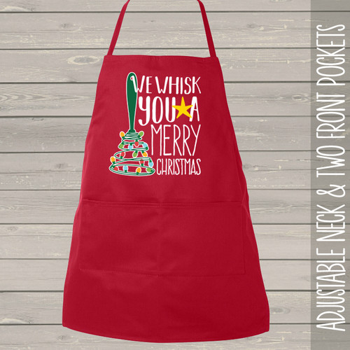 We whisk you a Merry Christmas apron