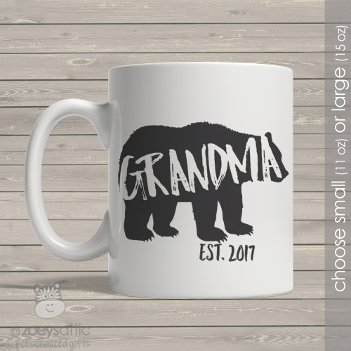 Grandma established bear coffee mug