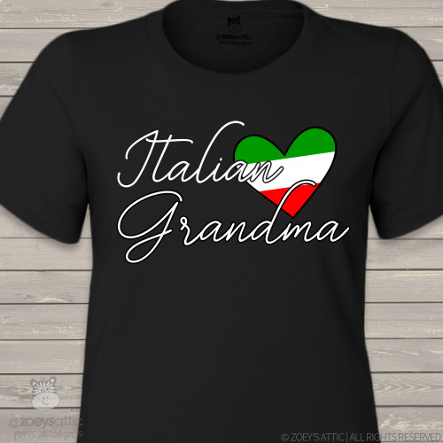 Italian grandma nonna DARK crew neck or vneck shirt