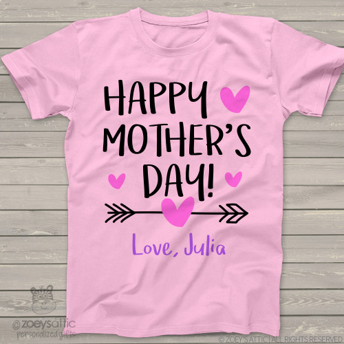 Happy Mothers Day arrow girls Tshirt