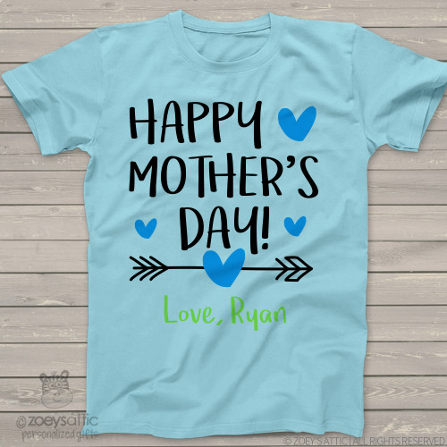 Happy Mothers Day arrow boys Tshirt