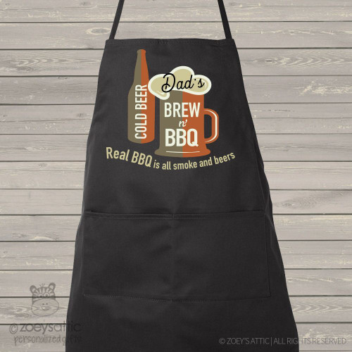 Dad brew bbq custom dark apron