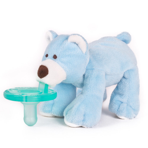 Blue Bear pacifier by Wubbanub