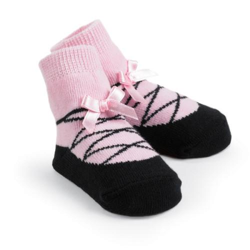 Girls ballet slipper sock by Mud Pie