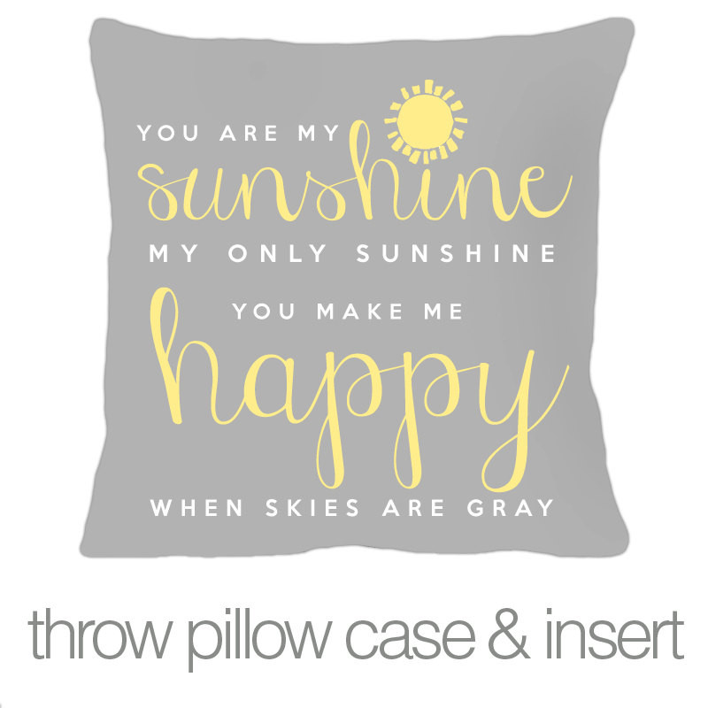 personalized kids throw pillow, you are my sunshine boy or girl