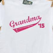 Grandma shirt grandma '15 (or any year) swoosh grandma to be custom Tshirt