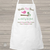 Apron grandma or nana world's best grandma voted by her flock adult personalized bib apron
