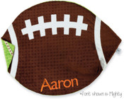 Football Blanket Reversible Minky Blanket by Mud Pie