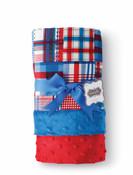 Plaid Blanket Reversible Minky Monogrammable Blanket by Mud Pie