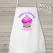 Apron chef in training cupcake girl child youth adult personalized bib apron