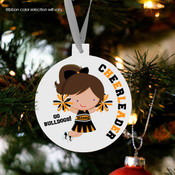 Holiday ornament cheerleader custom team personalized Christmas ornament