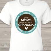 Grandma shirt great moms get promoted to grandma ORIGINAL design personalized Tshirt