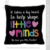 Little minds teacher DARK throw pillow