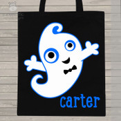 Halloween ghost DARK trick or treat bag