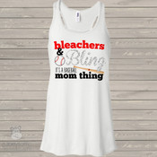 baseball mom bling sparkly flowy tank top LIGHT