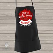 Barbecue personalized BLACK apron