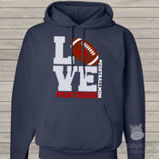 Football mom hoodie sweatshirt LOVE