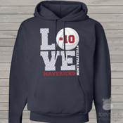 Volleyball mom hoodie sweatshirt LOVE