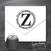 Initial round address self inking stamp
