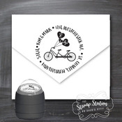 Name and initial round address self inking stamp