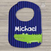 Alligator crocodile personalized bib