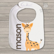 Giraffe personalized bib