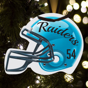 Personalized football helmet ornament
