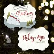 First Christmas polar bear family ornament