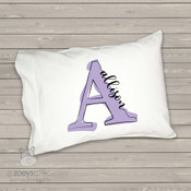 Monogrammed painted letter toddler travel pillow