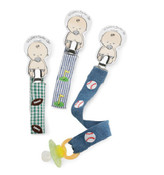 Sports embroidered pacifier clip - choose baseball, football or golf